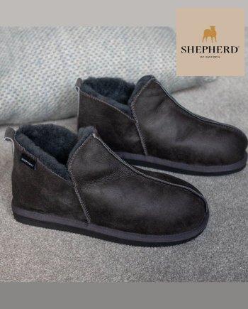 Shepherd Annie Hard Sole Slipper Antique Asphalt