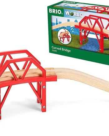 BRIO World Curved Train Bridge