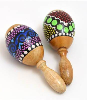 Painted Egg with Stick