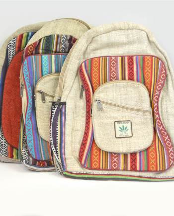Nepalese Hemp Canvas Backpack Bag