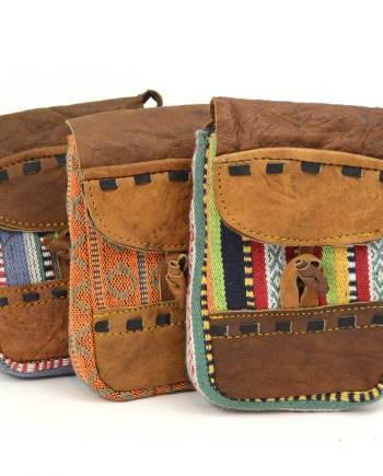 Leather and Hemp Phonebag Plus
