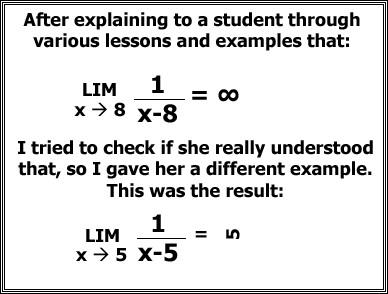 Math joke on limits