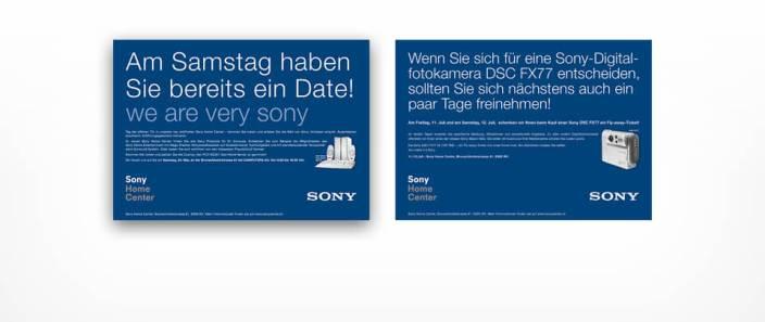 Graphic Design Tagespresse-Anzeigen