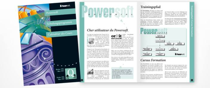 Graphic Design Schulungs-Prospekt