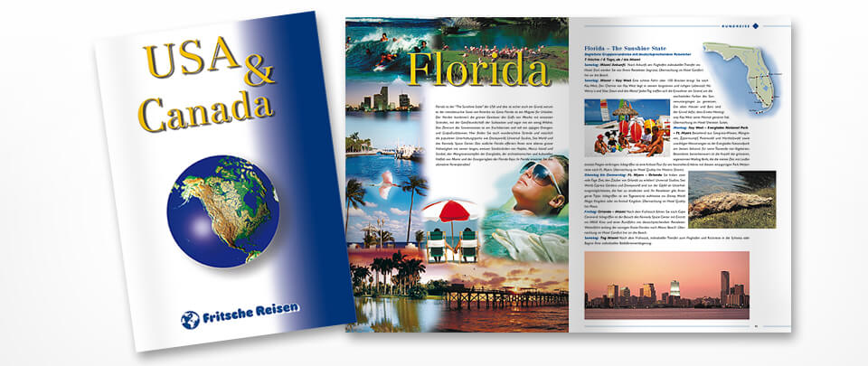 Graphic Design Reiseprospekt