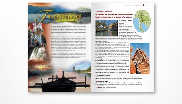 Beispiel Innenseiten Prospekt Asien & Australien