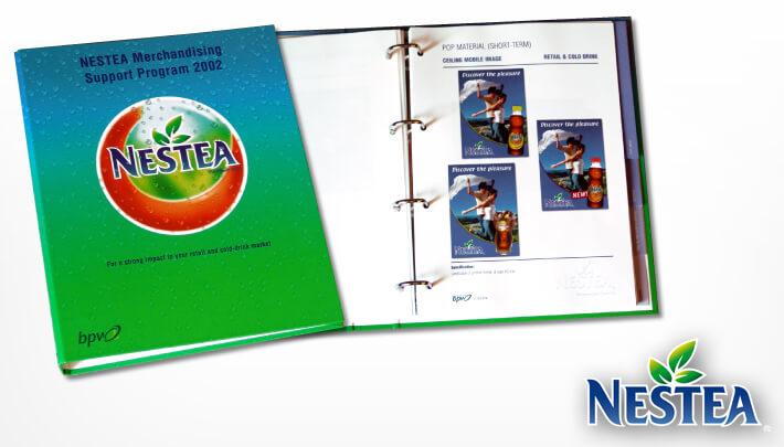 Graphic Design Ordner NESTEA Merchandising Support Program