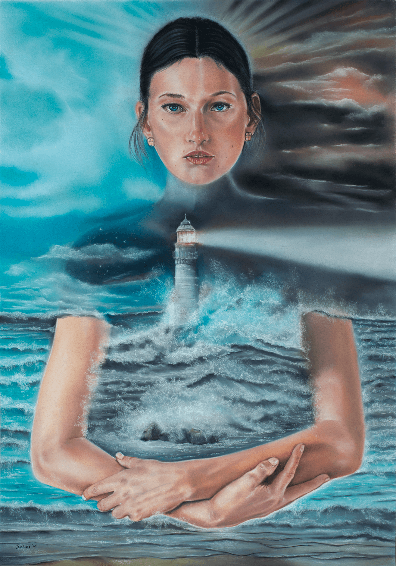 THE LIGHTHOUSE, Softpastell, 2016; 70 x 100 cm