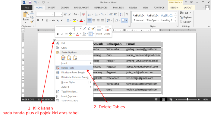 delete-tables