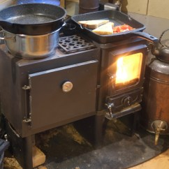 Kitchen Cook Stoves Cabinets Austin Baking Cupcakes Using A Small Wood Stove