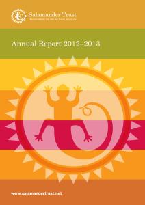 Salamander Trust Annual Report 2012-2013