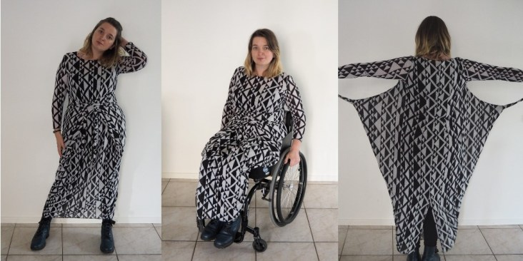 kielo wrap dress lang lange mouw