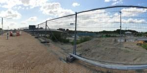 Drievliet brug naar parkeerplaats
