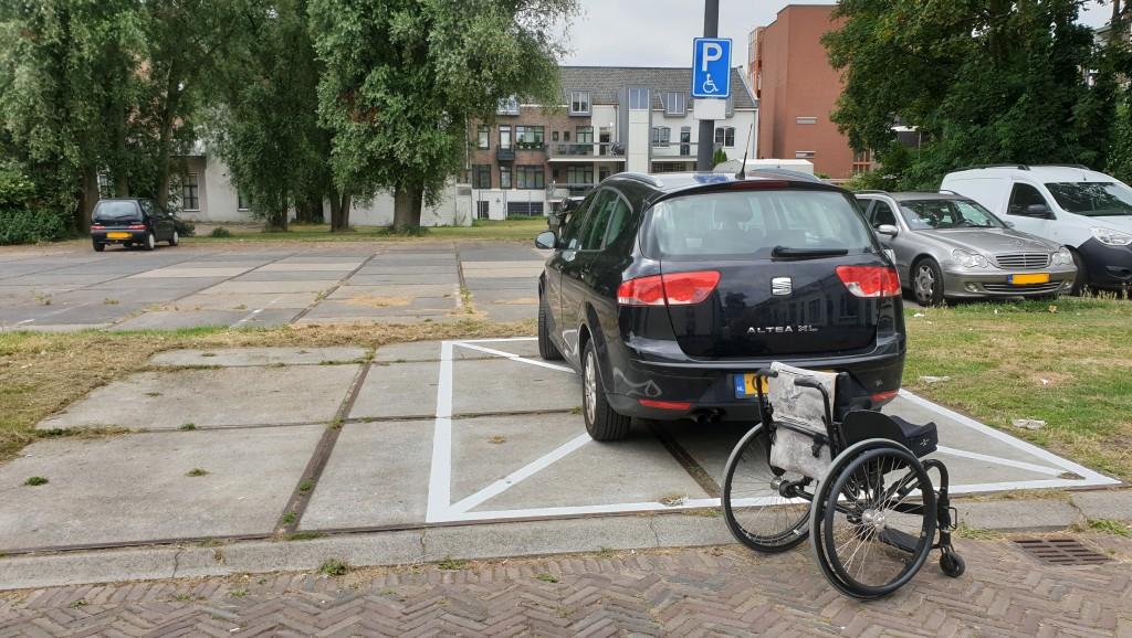 gehandicaptenparkeerplaats op kenteken