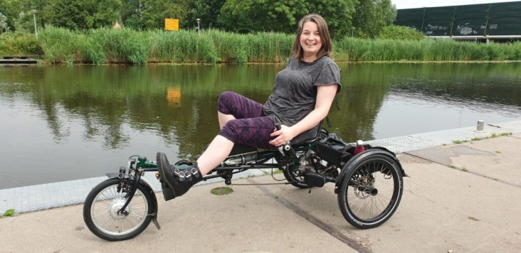driewielligfiets Hase Lepus met motor voor trapondersteuning