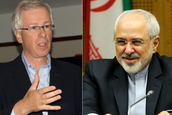 محمدجواد ظریف  وزیر خارجه ایران- استفان دیان وزیر خارجه کانادا