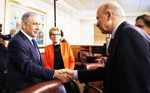 دیدار دکتر مریدی با  بنیامین  ناتانیاهو  نخست وزیر اسرائیل (به نقل از کیهان لندن)