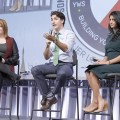Many young people at Tuesday's forum, which was organized by the Canadian Labour Congress, voiced frustration about their employment prospects, and booed as Trudeau also suggested that precarious work - including jobs with no pensions - is a fact of life.                 (Photo: Canadian Labour Congress)