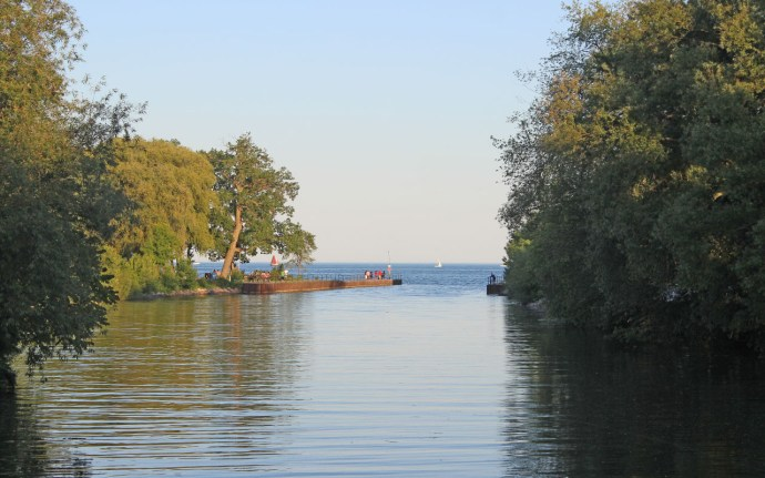 View of the lake from Marie Curtis Park