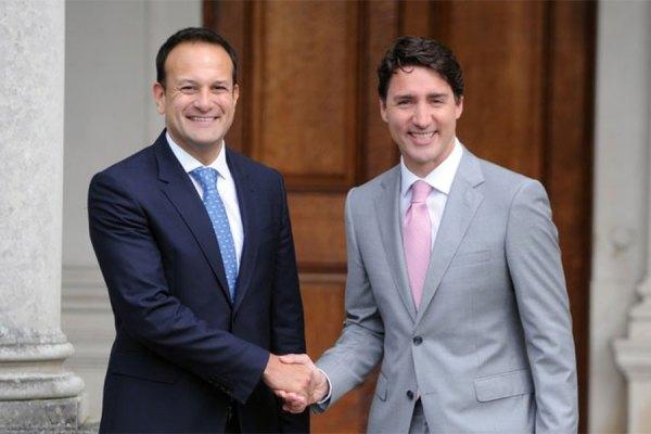 جاستین ترودو نخست وزیر کانادا و لئو وارادکار  نخست وزیر ایرلند