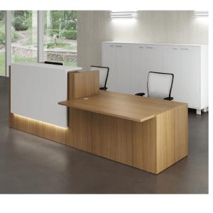 Canaletto Walnut Office Reception Desk