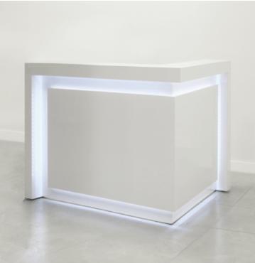 L shape reception desk