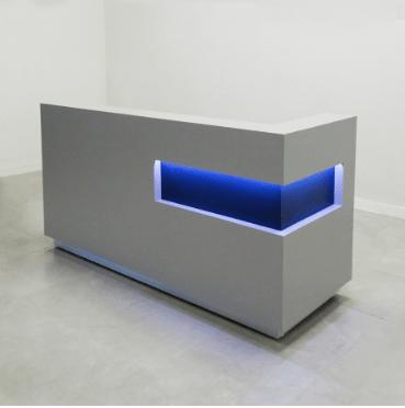l shape luxury reception desk
