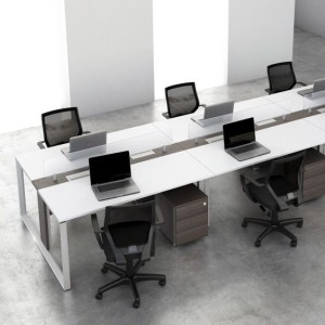 workstation desk with drawers