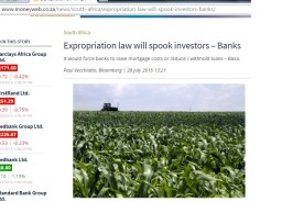 Expropriation law will spook investors – Banks