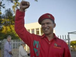 Nazier Paulsen is the leader of the Economic Freedom Fighters in the Western Cape. Photographer: Armand Hough