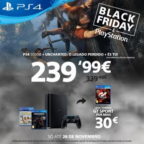 Black Friday é PlayStation - PS4 500gb