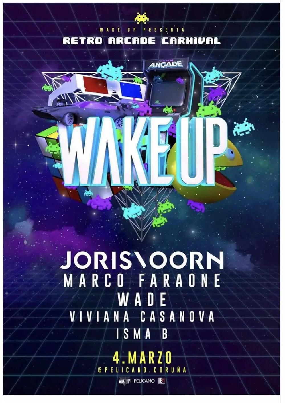 Wake Up Retro Arcade Carnival