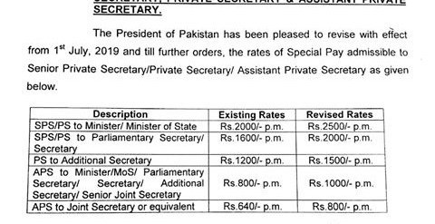 Revised 2019 SPS notification