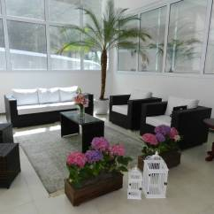 Spring Haven Brown All Weather Wicker Patio Sofa Low Cost Sets In Hyderabad Rattan 3 Lugares
