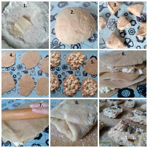 Diétás leveles tészta készítés lépései