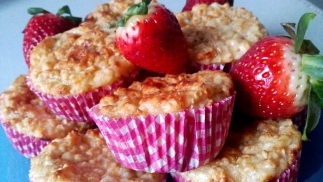 Túrós zabpelyhes muffin diétás recept