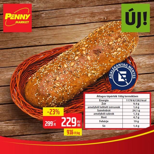 Szénhidrát csökkentett kenyér Penny Market