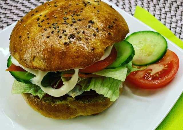Diétás hamburger zsemle recept szénhidrátcsökkentett lisztből