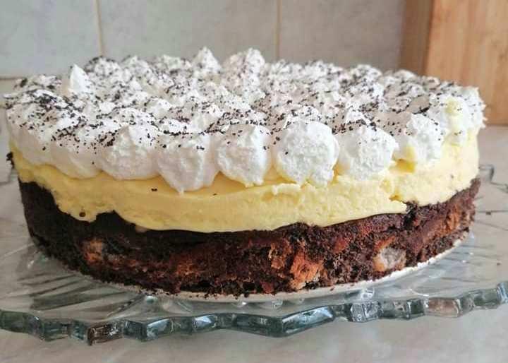 Cukormentes mákos guba torta vanília pudinggal (Hábenczius Gyuláné fotója)