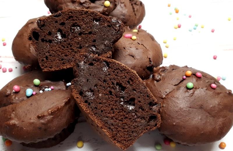 Cukormentes, diétás csokis muffin