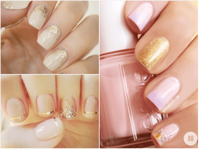 gold-nude-nails