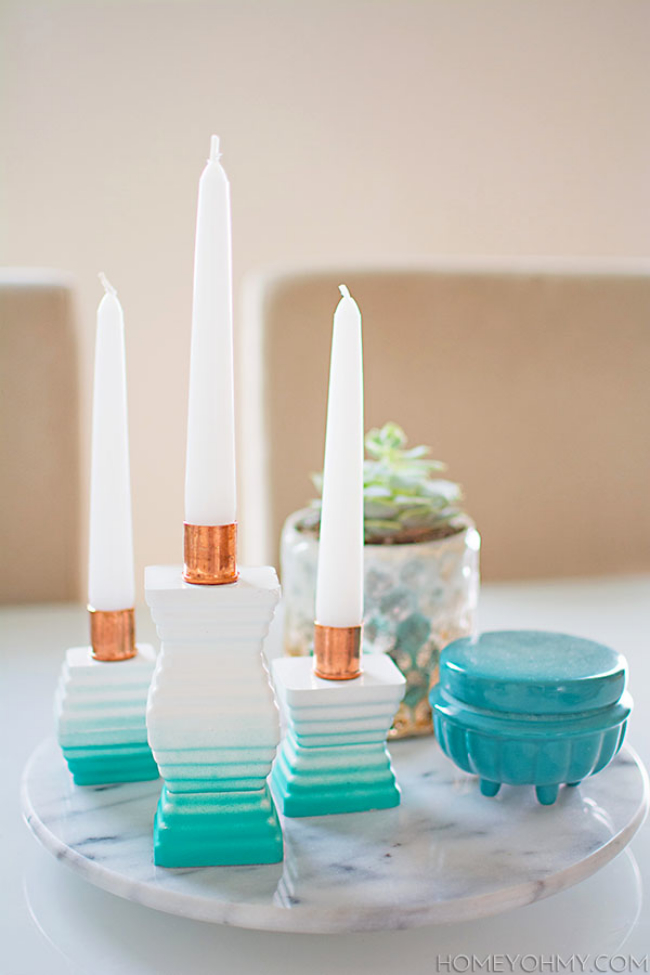DIY-Ombre-Cement-Candle-Holders-Centerpiece1
