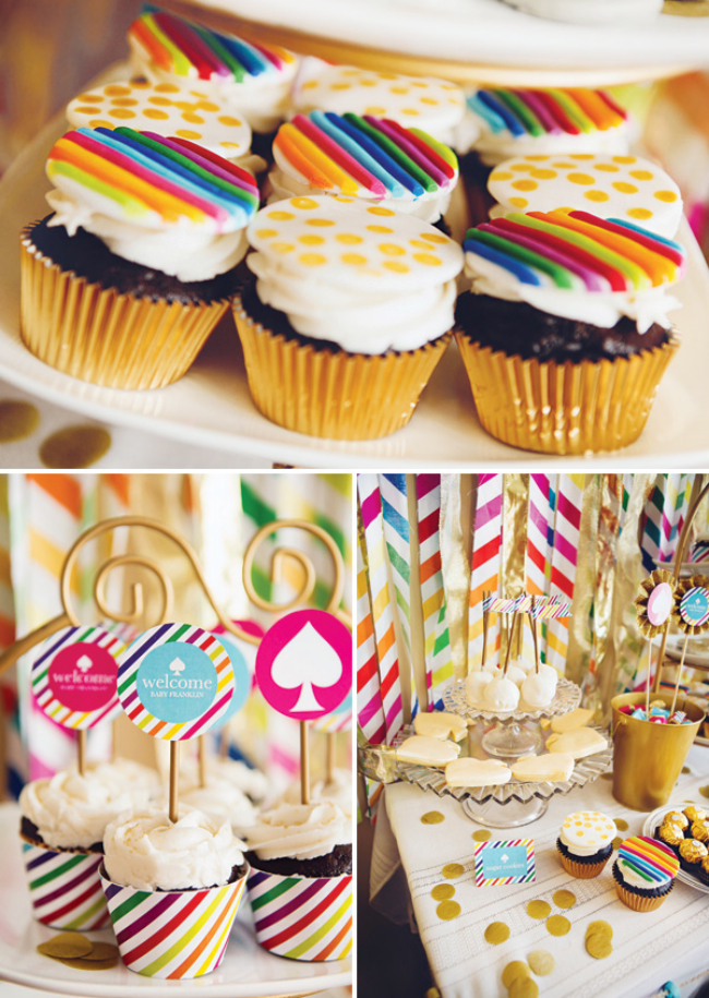 rainbow-striped-cupcakes