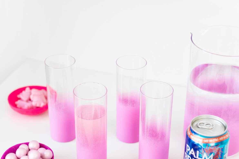 DIY Ombré em copos de vidro