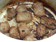 Frite bem a carne
