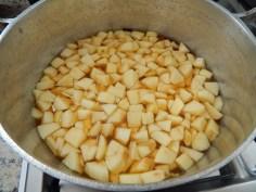 cozinhe as maçãs