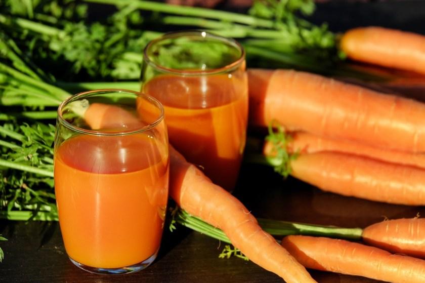 suco de cenoura dicas de alimentação no verão