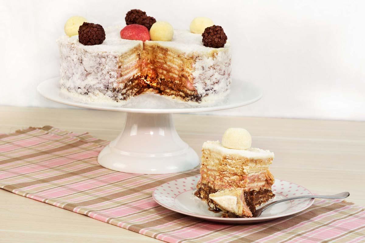 Torta palha Italiana de docinhos de festa
