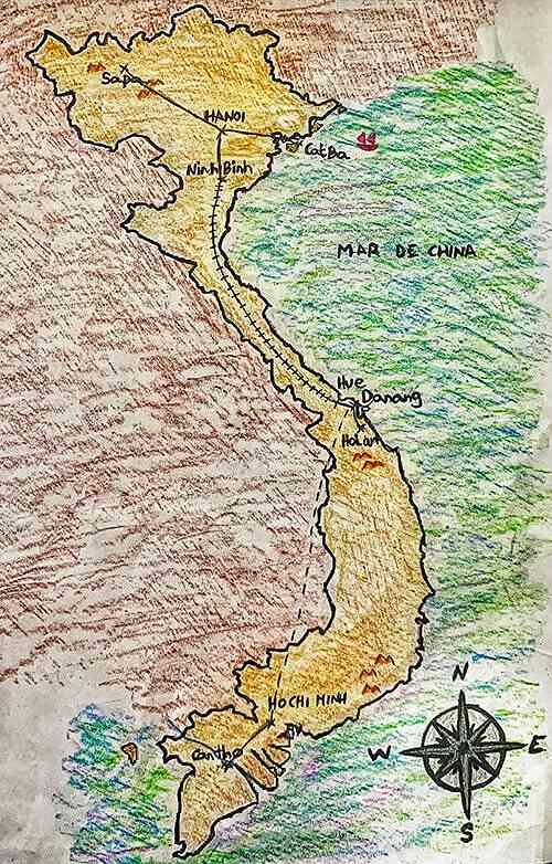 Ruta viaje Vietnam