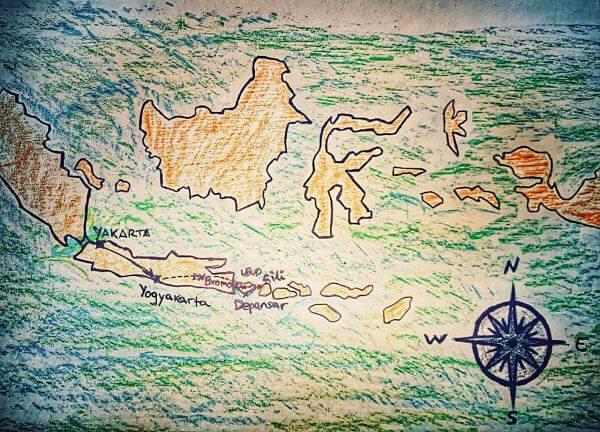 ruta viaje indonesia
